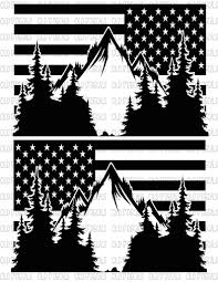 All Years American Mountian Flag Xterra Decals Stickers Vinyl Niss Onlineamericanstore