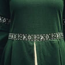 Dress Ivy green-white - CelticWebMerchant.com