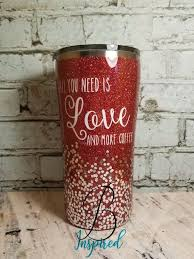 Can Be Made In Just About Any Color With Any Decal Send Me Your Ideas This Glittered Tumbler Comes With Hig Glitter Tumbler Glitter Cups Decals For Yeti Cups