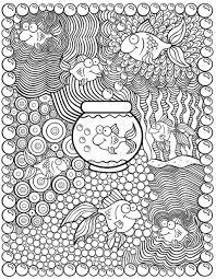 Kleurplaat Vis Dover Publications Kleurplaten Mandala
