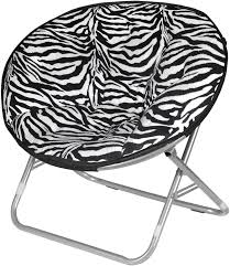 Amazon Com Urban Shop Zebra Faux Fur Saucer Chair Toys Games