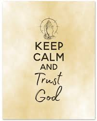 "Amazon.com: ""Keep Calm and Trust God"" Inspirational Wall Art ..."