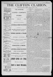 The Clifton clarion. (Clifton, Graham County, A.T., Ariz.), 1889-04-12 -  The Clifton Clarion - Arizona Memory Project