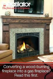 cost to convert wood fireplace to gas