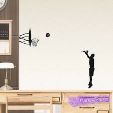 3 Points Basketball Player Sticker Car Decal Sports Posters Home Decoration Vinyl Wall Decals Decor Mural Basketball Wall Decal Wall Stickers Aliexpress