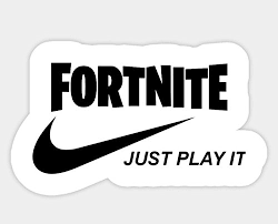 Fortnite Just Play It Decal Vinyl Sticke Buy Online In Luxembourg At Desertcart