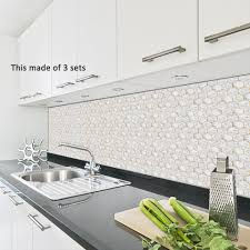 Funlife White Gold Marble Tiles Decal Modern Self Adhesive Kitchen Wall Stickers Home Decoration Bathroom Waterproof Stickers Wall Stickers Aliexpress