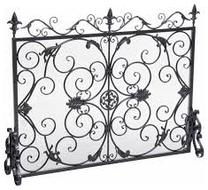 darcie wrought iron fireplace screen