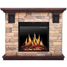 mantel freestanding electric fireplace