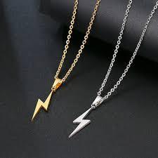 retro gold silver lightning bolt