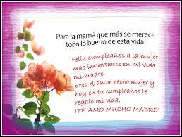 Especiales Saludos De Cumpleanos Para Mi Amor Mi Madre Feliz