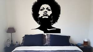 Wall Decal Sticker Bedroom Afro Woman Face Beautiful Girl Etsy