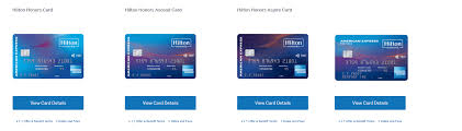 american express hilton cards pared