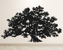 Oak Tree Wall Decal Etsy