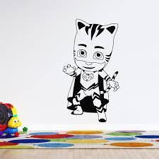 Vinyl Adhesive Hello Catboy Pj Masks Superhero 3d Cartoon Animation Wall Art Decal 20 X 25 Removable Home Wall Decor Design Boys Girls Kids Bedroom Sticker Decoration Walmart Com Walmart Com