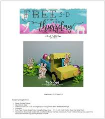 3-D Thursday is here with Twila and a super cute Easter Truck Delivery! –  Sarahs Ink Spot