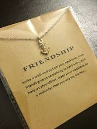 friendship anchor necklace jewelry
