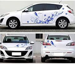 Amazon Com Mduhnd Car Sticker Waterproof Car Decal Vinyl Stickers Natural Flower Vine Dragonfly For Whole Car Body Home Kitchen
