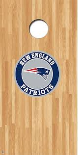 Amazon Com 1stopfanshop Patriots Cornhole Decals Cornhole Board Decals Patriots Round Kitchen Dining
