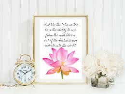 lotus flower buddha quote typographic print a printable law