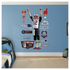 New England Patriots Tom Brady Fathead Wall Decal Set Target