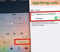 airplay spiegelung in ios