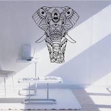 Mandala Indian Elephant Wall Stickers Zen Luxury Living