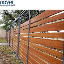 China Plat Blades Garden Aluminum Privacy Fencing Louver Screen Panel Horizontal Slat Fence China Aluminum And Slat Price