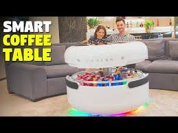 smart coffee table with refrigerator