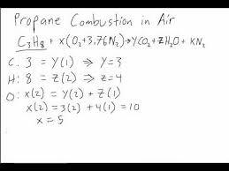 propane and air stoichiometric