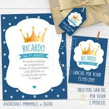 Kit Imprimible Corona Principe Decoracion Cumpleanos Nene Varon