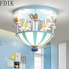 Super Promo 85ed Children Resin Ceiling Light Modern Boys Girls Pricess Room Lamp For Kids Room Bedroom Home Decor Lighting Led Pony Luminaire Cicig Co