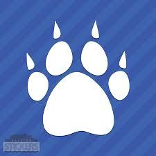 Wolf Track Paw Print Vinyl Decal Sticker For Sale Online