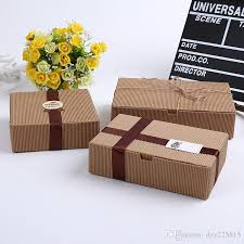 corrugated kraft paper box jewel gift