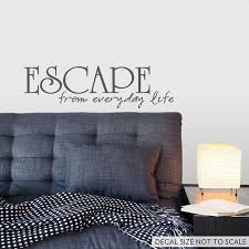 Escape From Everyday Life Wall Art Decals