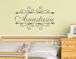 Girls Name Wall Decal Childrens Wall Decals By Wallapaloozadecals Childrens Wall Decals Name Wall Decals Vinyl Wall Decals