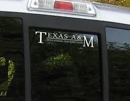 Shopcollegedepot Texas A M Industrial Distribution Car Decal