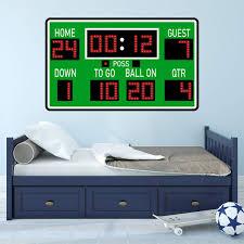 Vwaq Football Scoreboard Wall Sticker Peel And Stick Sports Decor Vinyl Decal Pas30 Walmart Com Walmart Com
