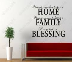 home family blessing wall quotes decal removable stickers decor