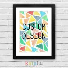 jual custom quote design cetak poster kata kata bijak favoritmu
