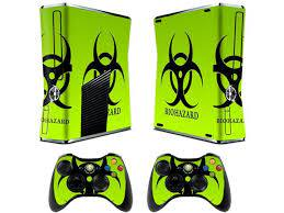 Skin For Xbox 360 Sticker Decals For X360 Custom Cover Skins For Xbox360 Slim Modded Console Game Accessories Set Decal Stickers And 2 Wireless Remote Controllers Biological Harzard Newegg Com