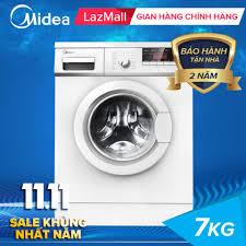 Mua Midea máy giặt cửa trước 7kg đa chức năng, vắt khô nhanh, tự khởi động  lại khi có điện, khóa trẻ em, máy giặt giá rẻ MFG70-1000 giá rẻ 3.990.000₫
