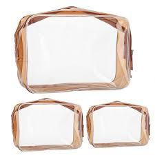 clear pvc bags organizer makeup bag