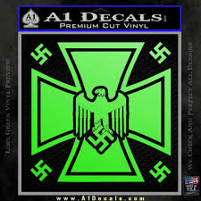 Nazi Iron Cross Swastika Supreme Decal Sticker D2 A1 Decals
