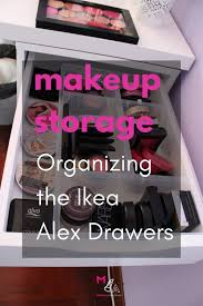 makeup storage organizing the alex