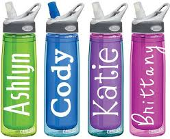 Name Decals For Personalized Water Bottles Or Tumblers 2x4 Etsy Personalized Water Bottles Bottle Water Bottle