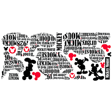 Shop Mickey Friends Typography Mickey Mouse Peel Stick Giant Wall Decal Overstock 7538408