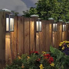 Sterno Home Paradise Solar Led Post Lights 4 Pack Costco Uk Backyard Lighting Solar Fence Lights Backyard Fences