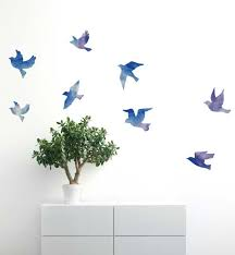 Watercolor Flock Of Birds Wall Sticker Decal Kids Wall Etsy