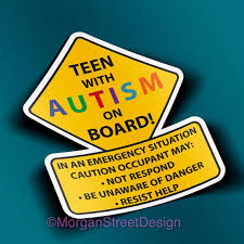 Teen With Autism Car Truck Decal Sticker Etsy